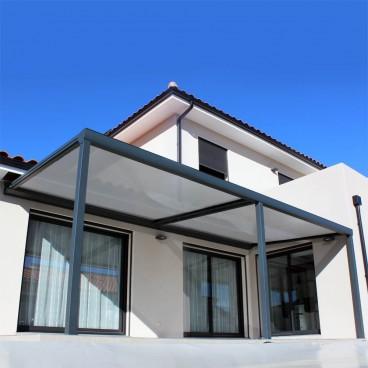 Pergola toile coulissante rétractable Ambiance en aluminium - Pérgolas bioclimáticas, persianas y toldos a medida
