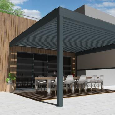 Pergola bioclimatique Architect en aluminium - Pérgolas bioclimáticas, persianas y toldos a medida