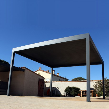 Pérgola bioclimática Design autoportante de aluminio - Pérgolas Bioclimáticas, Toldos y Persianas - Alsol-espana.es
