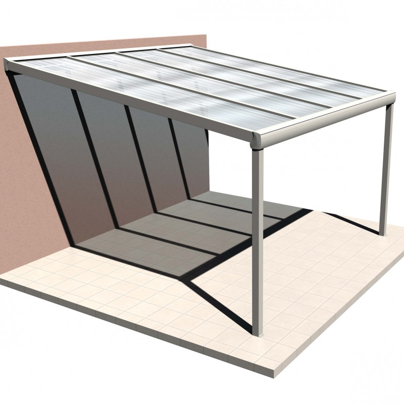 p rgola de techo de policarbonato a medida de aluminio. Black Bedroom Furniture Sets. Home Design Ideas