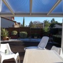 Pérgola de techo de policarbonato Light de aluminio