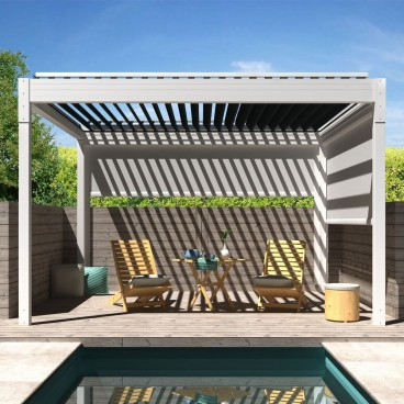 Pergola bioclimatique Architect autoportée en aluminium - Pérgolas bioclimáticas, persianas y toldos a medida