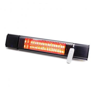 Calentador infrarrojo gris con bluetooth y Led integrados