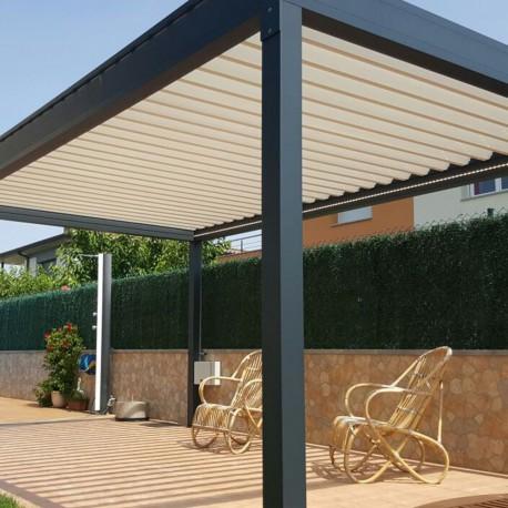 Pergola bioclimatique Lounge autoportée en aluminium - Pérgolas Bioclimáticas, Toldos y Persianas - Alsol-espana.es